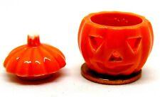 1:12 Scale Large Ceramic Pumpkin Hollow Face Tumdee Doll House Kitchen Halloween