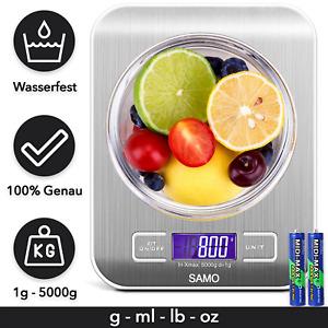 Digitale Küchenwaage 1g bis 5kg Haushaltswaage Küchen Waage Digitalwaage Brief