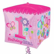 Sweet Birthday Girl Cubez Balloon Baby 1st Party Decorations