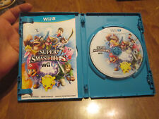 Super Smash Bros. Nintendo Wii U COMPLETE DISC EXCELLENT WORKS PERFECTLY