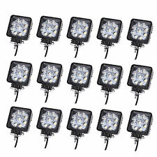 15pcs 27W Spot Beam led work light Square For Jeep Truck Offroad Boat UTE lamp