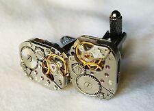Gift Watch Movement Cufflinks Mens ValentinesBirthday Wedding Chronometer