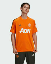 Maillots de football oranges adidas taille XL