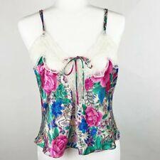 Vintage Victoria Secret Floral Satin Lace Camisole M