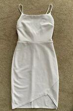 Asos White Scuba Bodycon Summer Going Out Party Wrap Low Back Mini Dress 8 BNWT
