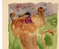 Christian CAILLARD Le lion et le Moucheron LA FONTAINE 1961