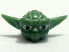 LEGO STAR WARS - Yoda Minifig Head - Straight Ears Large Eyes and Gray Hair