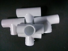 """3/4"""" inch PVC sched. 40 Tees 90 deg. LOT of 5 Plumbing Sprinkler Made in USA!"""