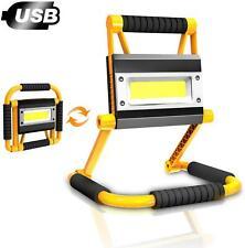 LED Work Light Rechargeable Spotlight Portable Site Flood Light Fishing Camping