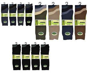 12 Pairs Mens Boys Bamboo Socks Plain Super Soft Fine Anti Bacterial Sock UK6-11