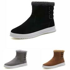 Winter Snow Mens High Top Ankle Boots Shoes Fur Inside Warm Outdoor Walking 44 D
