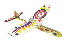 Lanyu Hand Launch Balsa Wood Glider Plane DIY Build&Paint Model Kit, US 7013