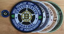 US Marshals Service - Boston Bruins Stanley Cup SET Genuine *Kokopelli Patch*