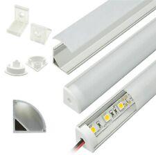 PROFILO ALLUMINIO ANGOLARE TONDO 16X16mm per STRISCIA LED 0,5-1-1,5-2 Mt