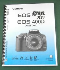 Canon EOS-400D Rebel XTi  Instruction Manual: Comb Bound & Protective Covers!