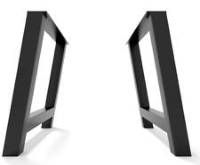 2x Piedi tavolo gambe a forma di H - metal table Steel legs - Pieds de table