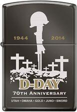ZIPPO 70th Anniversary D-DAY Commemorative Lighter 1944 Black Ice Very Rare NEW