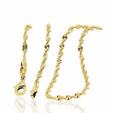 18 K Placcato Oro Collana Catena Serpente Lady per le donne catena 2 mm di larghezza n426