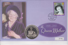 More details for british virgin islands pnc coin cover 2002 queen mother memorial $1 coin 0140