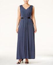 NWT MICHAEL Michael Kors Plus Size Elastic-Waist Printed Maxi Dress Size 1X & 2X