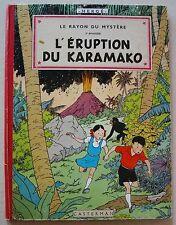 Jo, Zette & Jocko Rayon du Mystère L'Eruption Karamako HERGE Casterman B21 bis