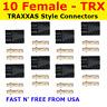 10 Female TRX TRAXXAS CONNECTOR PLUG LIPO NIMH E-REVO SLASH RALLY SUMMIT