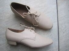 Mens Beige Size 7 lace up Ballroom Dance Shoes *NEW* Roch Valley Rupert