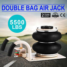 Double Bag Air Jack Pneumatic Jack 5500LBS Quick Lift 2.5 Ton Heavy Duty Jacking