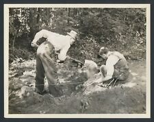 """1934 """"Lindbergh Baby Found"""", Police Search the Area for Additional Clues Photo"""