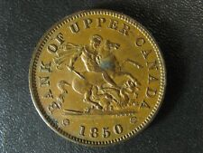 PC-6A1 One Penny 1850 token Bank of Upper Canada Breton 719