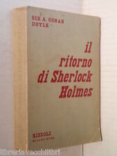 IL RITORNO DI SHERLOCK HOLMES A Conan Doyle Maria Gallone Rizzoli 1950 I ediz di