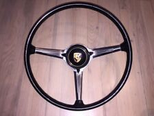porsche 356  steering wheel complete w/center button logo RARE BLACK