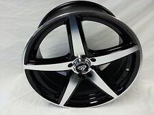 17 Inch Black Machine White Diamond # 244 wheel Rims & Tires 4X100