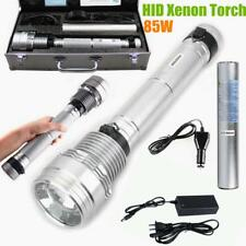 High Power 85w HID Flashlight Torch 8500 LM 6600mAh Battery HID Lamp Silver