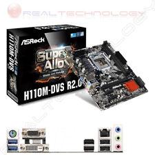 MB ASROCK H110M-DVS R2.0 6GEN LGA1151 H110 2D4DC2133 VGA+DVI+1PCIE3.0X16 1PC