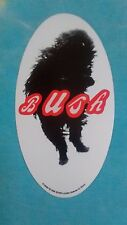 Bush Dog 3.25 x 6 Inch Oval Sticker
