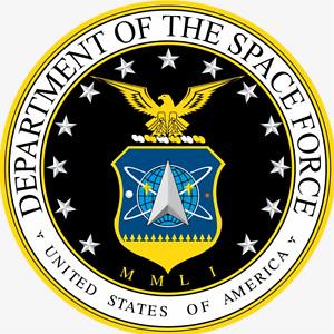 United States Space Force Emblem Sign or Door Hanger