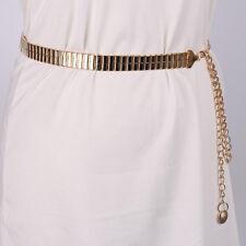 Womens Waist Belt Metal Gold Chain Belt Dress Waistband Clothing Accessories