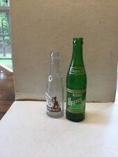 TWO Assorted Soda Pop Bottles NEHI-UPPER 10 & BROWNIE BOTTLES
