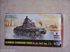 Maquette ESCI 1/72ème GERMAN COMMAND TANK kl. pz. bef. wg. I b n°8041