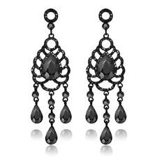 Retro Women's Drop ShapeDiamond Titanium Steel Ear Earrings Stud Jewelry Gifts
