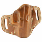 Galco Combat Master Belt Holster, Fits Glock 19, Right Hand, Tan Leather CM226