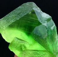 Rare Natural 146g Transparent Green Jelly Fluorite Mineral Specimen Reiki Heal