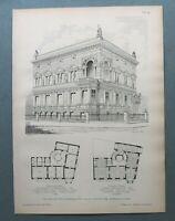AR85) Architektur Magdeburg 1885 Schiess´sches Haus Ansicht Holzstich 28x39cm