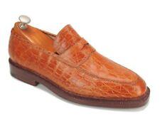 Mint Silvano Lattanzi 4 Brioni Tan Crocodile Bentivegna Handmade Loafers 9 US