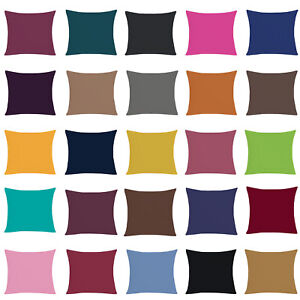 Pack of 2 to 12 Plain Office Sofa Cushion Covers 16x16 in Home Decor Pillow Case