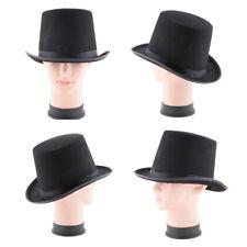 f02f01f76f2 Tall Top Hat Victorian Steampunk Dickens Slash Formal Costume Black Adult  HOT EV
