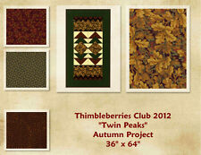 RARE - Thimbleberries Club 2012 TWIN PEAKS RUNNER Quilt Fabric Kit - FREE SHIP