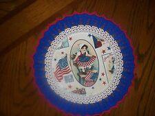 New Handmade Round Crochet Doily--Patriotic/Americana/Young Betsy Ross