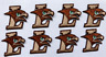 Lehigh University patch lehigh mountain hawks patches 8 pieces iron on or sew on
